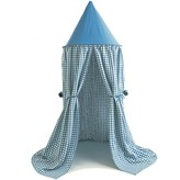 The Well Appointed House BARGAIN BASEMENT ITEM: Child's Blue Gingham Hanging Play Tent