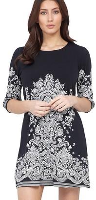M&Co Izabel damask print shift dress