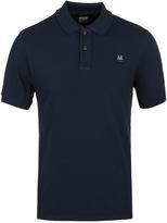 Cp Company Navy Pique Polo Shirt