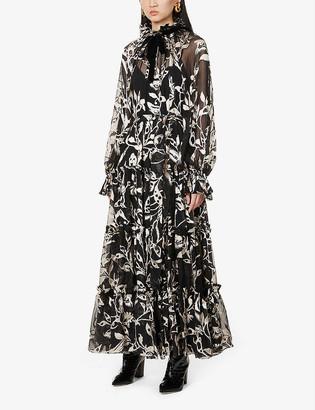 Zimmermann Ladybeetle printed tiered silk maxi dress