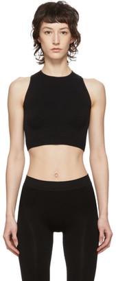Rick Owens Black Knit Sports Bra