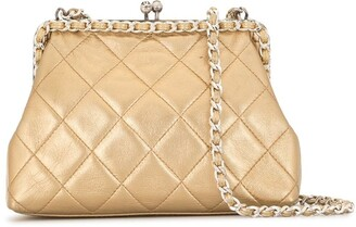 Chanel Pre Owned 1995 Diamond Quilted Chain Crossbody Bag