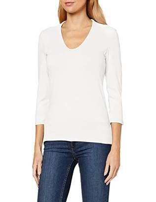 More & More Women's Langarmshirt von Longsleeve T-Shirt, (White 0041)