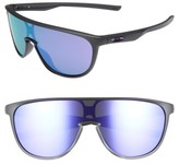 Oakley Women's Trillbe 140Mm Shield Sunglasses - Matte Black/ Warm Grey