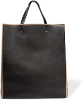 Jil Sander Leather and suede tote