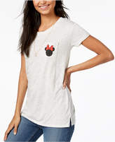 Hybrid Juniors' Minnie Mouse Graphic-Print T-Shirt