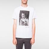 Paul Smith Men's White '40 Years Of Punk' Print T-Shirt