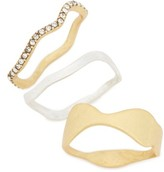 Madewell Women's Set Of 3 Wavy Stackable Rings