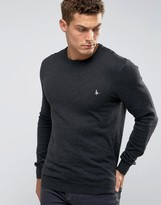 Jack Wills Sweater With Crew Neck In Charcoal