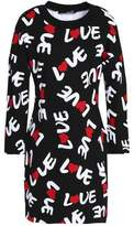 Love Moschino Printed Cotton-Jersey Dress