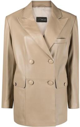 Manokhi Double-Breasted Leather Jacket