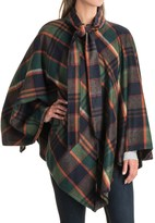 Jones New York Plaid Cape - Zip Front (For Women)