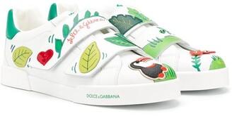 Dolce & Gabbana TEEN tropical motif sneakers