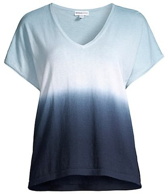 Minnie Rose Cotton-Cashmere Dip-Dye Shirt