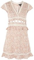 Topshop Frill Detail Skater Dress