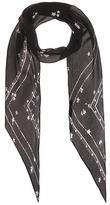 Rockins Night Flower Classic Skinny silk scarf
