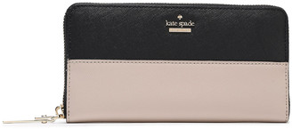 Kate Spade Two-tone Textured-leather Continental Wallet