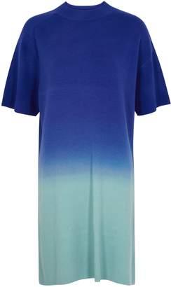 Woolmark Awaytomars AWAYTOMARS X Degrade Wool-blend T-shirt Dress