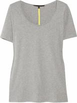 Victoria Beckham Denim Cotton-jersey and mesh T-shirt