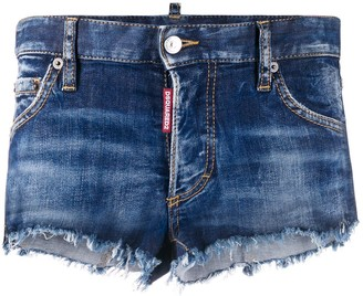 DSQUARED2 Raw Edge Denim Shorts