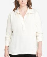 Lauren Ralph Lauren Plus Size Collared Crepe Tunic
