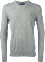 Polo Ralph Lauren embroidered logo jumper - men - Cotton/Cashmere - M