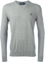 Polo Ralph Lauren embroidered logo jumper - men - Cotton/Cashmere - S