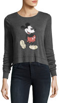 David Lerner Mickey Mouse Long-Sleeve Tee, Black