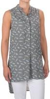 Max Jeans Mandarin High-Low Tunic Shirt - Sleeveless (For Women)