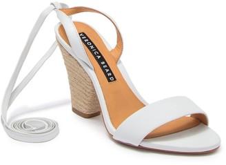 Veronica Beard Remy Leather Espadrille Heel Sandal