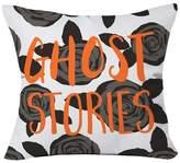 """Deny Designs Black Zoe Wodarz Ghost Stories Throw Pillow (20""""x20"""