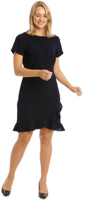 Basque Crepe Ruffle Work Dress