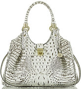 Brahmin Melbourne Collection Elisa Croco-Embossed Hobo Bag