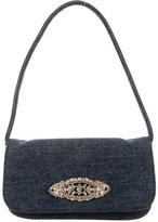 Dolce & Gabbana Embellished Denim Shoulder Bag