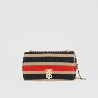 Burberry Small Striped Wool Lola Bag