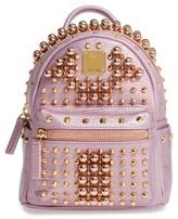 MCM X-Mini Stark Stud Backpack - Pink