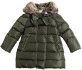 Il Gufo Nylon Down Coat W/ Faux Fur Hood