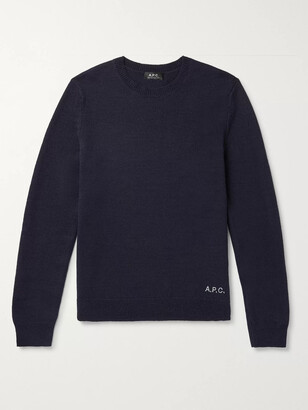 A.P.C. Logo-Embroidered Wool Sweater