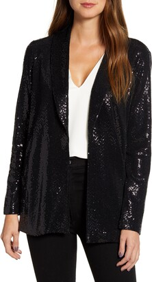 Gibson X Glam Living in Yellow Sequin Shine Blazer