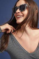 Anthropologie Leopard Wayfarer Sunglasses