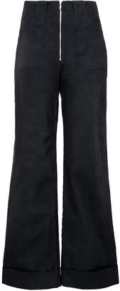 Isabella Collection Usisi USISI High Waisted Cropped Wide-Leg Pants