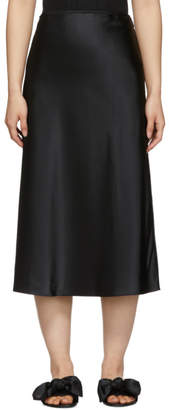 Le Petit Trou Black Silk Delice Skirt