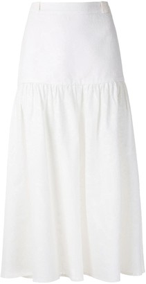 Andrea Marques Gathered Detail Midi Skirt