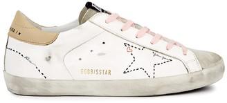 Golden Goose Superstar Doodle distressed leather sneakers