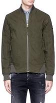 Denham Jeans Waxed canvas padded bomber jacket