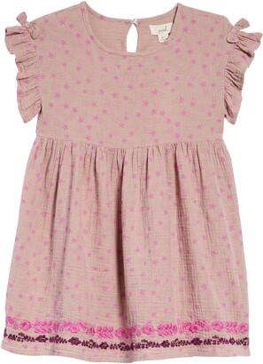 Peek Aren't You Curious Kids' Allover Star Print Dress