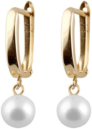 Splendid Pearls 14K Yellow Gold & 7-7.5Mm Pearl Earrings