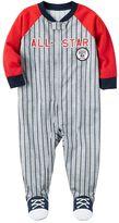 "Carter's Baby Boy All-Star"" Baseball Striped Sleep & Play"
