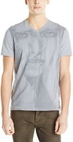 Calvin Klein Jeans Men's Chevron Girl V-Neck Tee Shirt