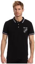 Versace Cotton Pique Polo (Black) - Apparel